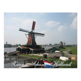 Postal del molino de viento de Zaanse Schans