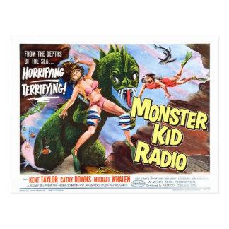 Postal del monstruo de mar de la radio del niño