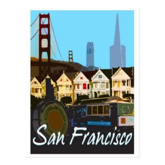Postal del montaje de San Francisco