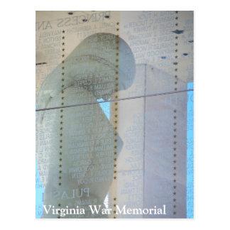 Postal del monumento de guerra de Virginia -