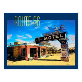 Postal del motel de la ruta 66 - modificada para
