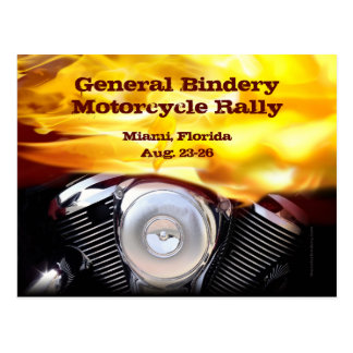 Postal del motor de la motocicleta