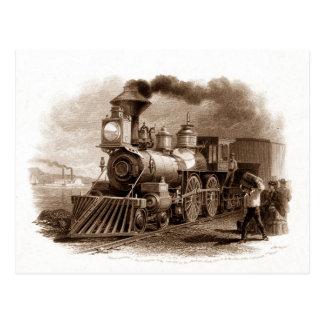 Postal del motor de vapor