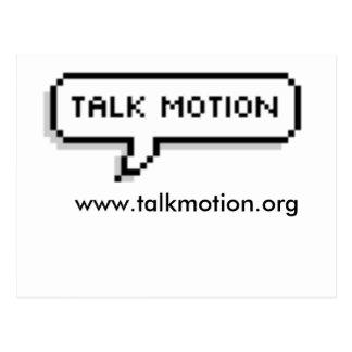 Postal del movimiento de la charla