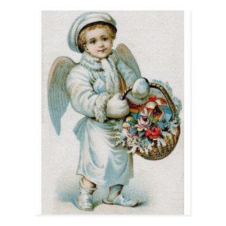 Postal del muchacho del ángel del vintage