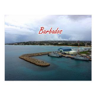 Postal del muelle de Barbados