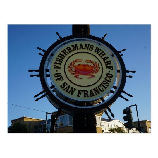 Postal del muelle de San Francisco Fishermans