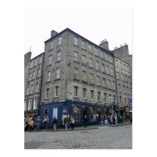 Postal Del mundo de Edimburgo la taberna del extremo