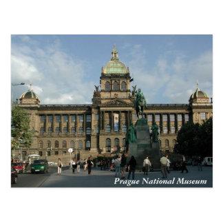 Postal del Museo Nacional de Praga
