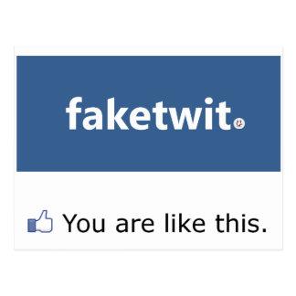 Postal del Narcissist de Facebook