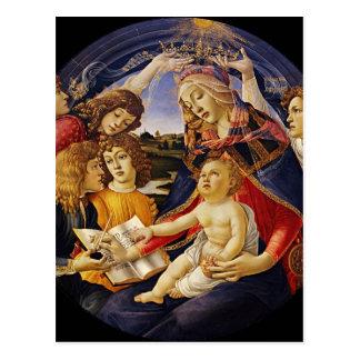 Postal del navidad de Madonna del vintage