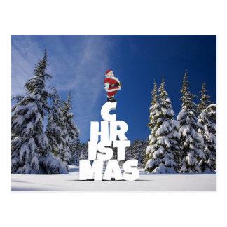 Postal del navidad y de Papá Noel