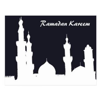 Postal del negro de la mezquita del Ramadán