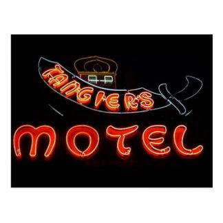 Postal del neón de Chicago del vintage del motel d