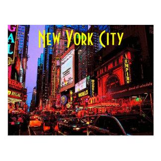 Postal del neón de Nueva York