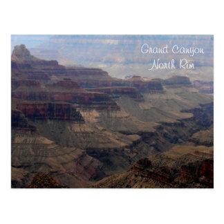 Postal del norte del borde del Gran Cañón