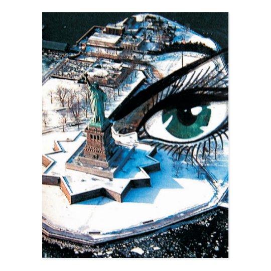Postal del ojo de la isla de Ellis