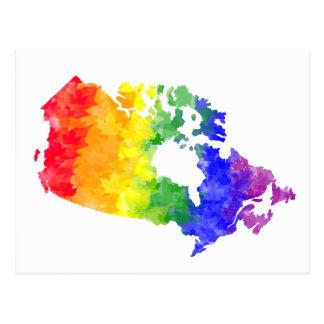 Postal del orgullo del arco iris de la hoja de