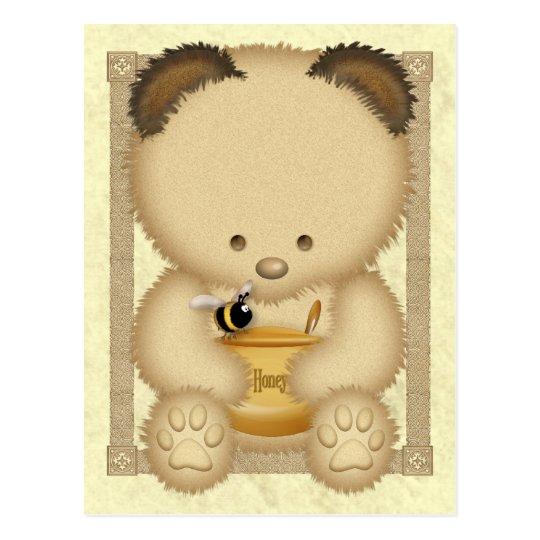 Postal del oso de miel