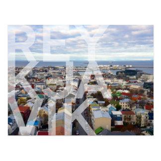 POSTAL del paisaje urbano de Reykjavík