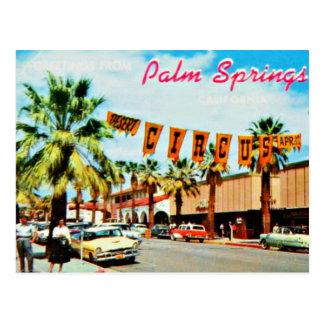 Postal del Palm Springs de los años 50 del vintage