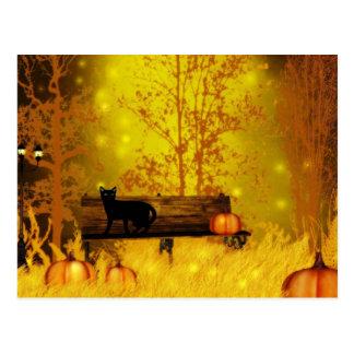 Postal del parque de Halloween