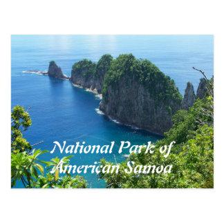 Postal del parque nacional de American Samoa