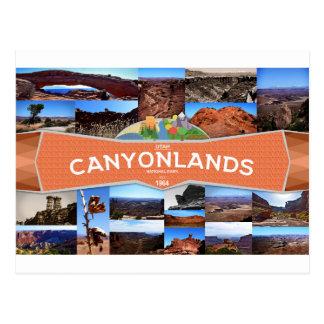 Postal del parque nacional de Canyonlands