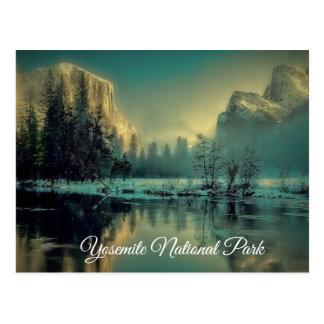 Postal del parque nacional de Yosemite