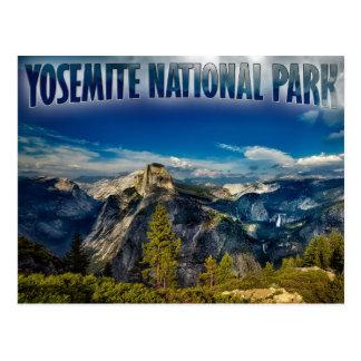 Postal del parque nacional de Yosemite del valle