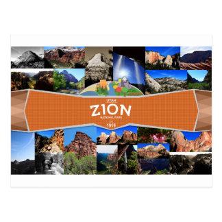 Postal del parque nacional de Zion