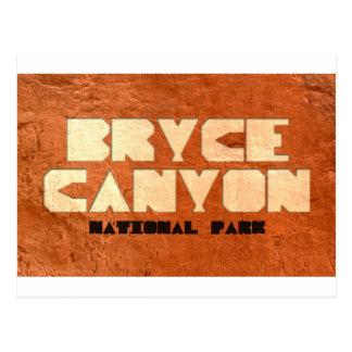 Postal del parque nacional del barranco de Bryce