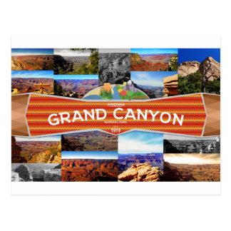 Postal del parque nacional del Gran Cañón