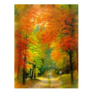 Postal del paseo del otoño