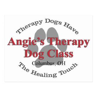 Postal del perro de la terapia de Z Angie