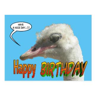 Postal del personalizable del feliz cumpleaños de