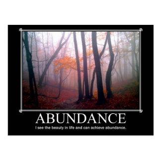 Postal del personalizado de la abundancia