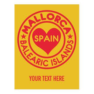 Postal del personalizado de MALLORCA España