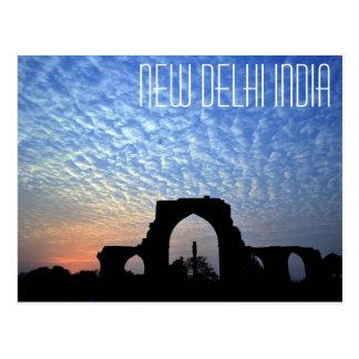 Postal del pilar del hierro de Nueva Deli la India