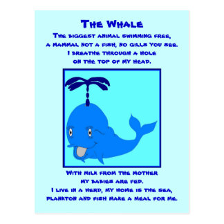 Postal del poema de la ballena