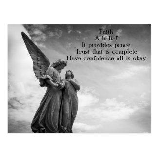 Postal del poema de la fe