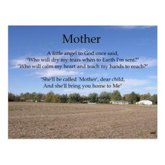 Postal del poema de la madre