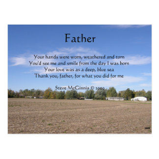 Postal del poema del padre