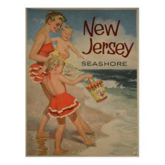 Postal del poster del viaje del vintage de New