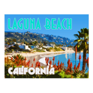 Postal del poster del viaje del vintage del Laguna