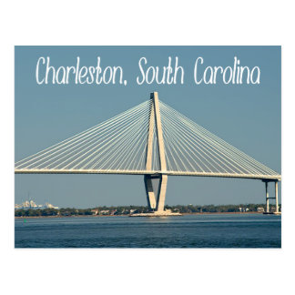 Postal del puente de Charleston Carolina del Sur