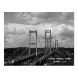 Postal del puente de estrechos de Tacoma