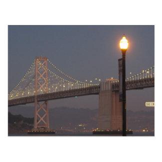 Postal del puente de la bahía de San Francisco