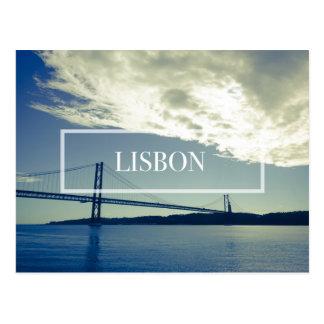 Postal del puente de Lisboa