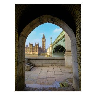 Postal del puente de Londres Westminster